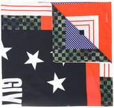 Givenchy check and star print scarf