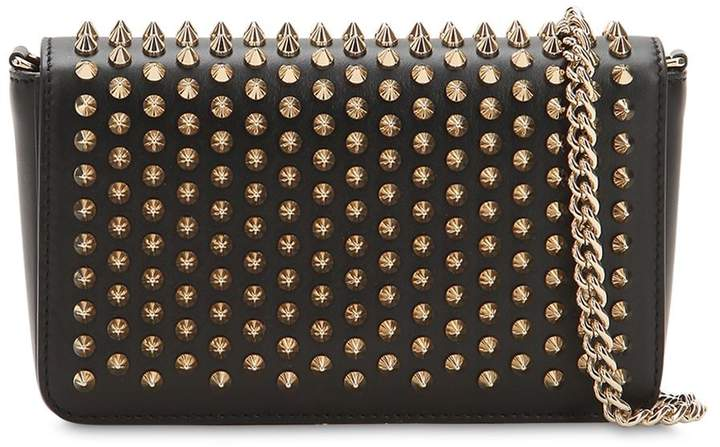 bdb7de1b2ea ZOOM POUCH SPIKED LEATHER BAG