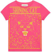 "Gucci Children's cotton T-shirt with ""Shining Cat"" print"