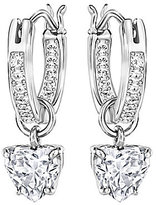 Swarovski Attract Heart Hoop Earrings