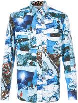 Gitman Brothers skying print shirt