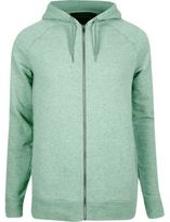 River Island MensGreen marl zip though hoodie