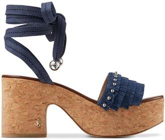 Jimmy Choo Athi 80mm fringed sandals