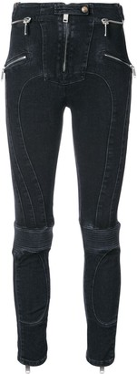 Unravel Project high rise biker skinny jeans