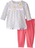 Bon Bebe Baby-Girls Newborn Hearts and Bows 2 Piece Dress Set, Multi, 0-3 Months