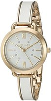Anne Klein Women's Quartz Metal and Alloy Dress Watch, Color:White (Model: AK/2436WTGB)