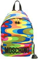 Moschino wavy print backpack