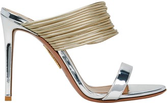 Aquazzura Rendez Vous 105 Metallic Sandal