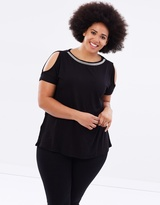 Embellished Neckline C/S Top