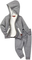 7 For All Mankind Hoodie Short Sleeve Tee, & Pant 3-Piece Set (Baby Boys)