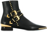 Versace buckle stud ankle boots