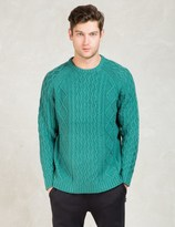 Stussy Mint Fishermans Cable Sweater