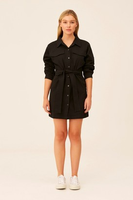 The Fifth BACKTRACK LONG SLEEVE DRESS Black