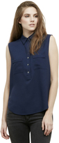 Kenneth Cole Sleeveless Military Top