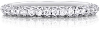 De Beers White Gold Darling Half Pave Eternity Ring