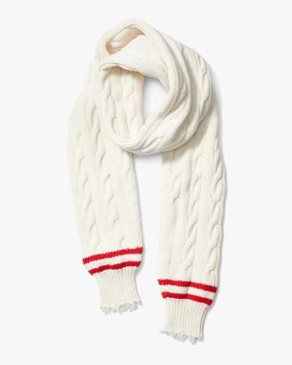 Michael Kors Corallina Frayed-Sleeve Cashmere Scarf