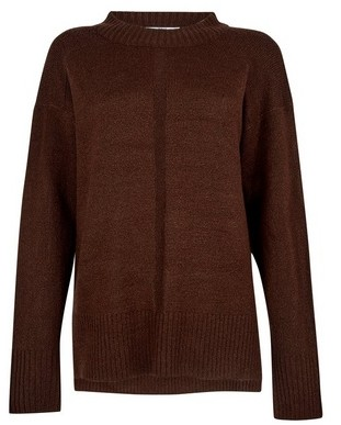 Dorothy Perkins Womens Tall Chocolate Brown Chunky Knit Jumper, Brown