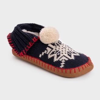 Muk Luks Women's Knit Moccasin Slipper Socks -