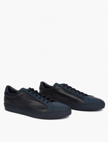 Common Projects Navy Premium Leather Achilles Sneakers