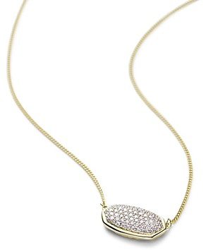 Kendra Scott Elisa Diamond Necklace in 14K Yellow Gold, 14K Rose Gold or 14K White Gold, 15