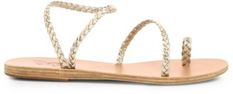 Ancient Greek Sandals Eleftheria Braided Metallic Leather Sandals