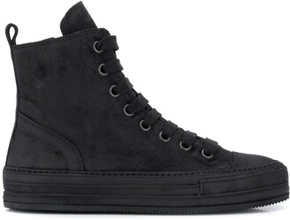 Ann Demeulemeester High Top Lace-Up Sneakers