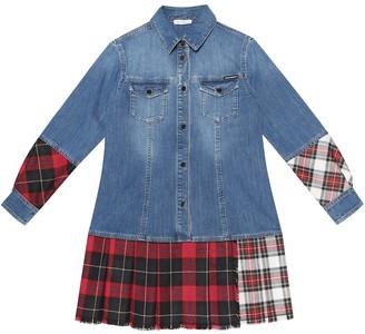 Dolce & Gabbana Patchwork denim shirt dress
