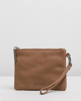 Stitch & Hide - Women's Brown Purses - Cassie Clutch - Size One Size at The Iconic