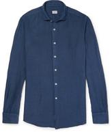 Incotex Slim-fit Linen Shirt - Navy