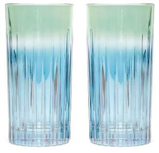 Luisa Beccaria Set Of Two Gradient Glasses - Green Multi