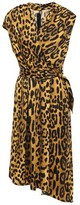 ADAM by Adam Lippes Belted Wrap-effect Leopard-print Satin-crepe Dress