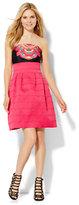 New York & Co. Bandage Flare Dress - Pink