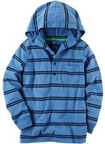 Carter's Boys 4-8 Hooded Henley Striped Top