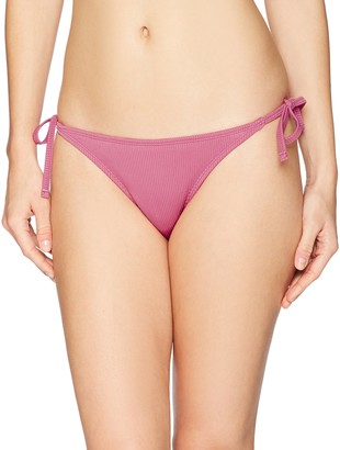 Mae Amazon Brand Women's Swimwear Side Tie Extra Cheeky Bikini Bottom