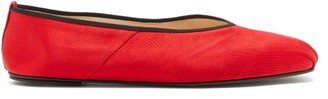 The Row Ballet Square-toe Satin Flats - Red