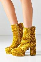 Urban Outfitters Michelle Velvet Platform Boot