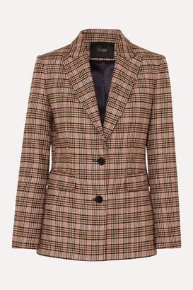 Maje Valilo Checked Tweed Blazer - Ecru
