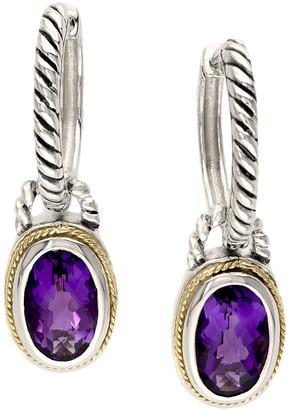Effy Fine Jewelry 18K & Silver 3.33 Ct. Tw. Amethyst Earrings