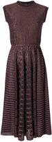 Gig knit flared dress