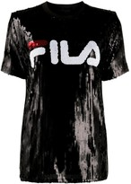 Fila sequinned logo T-shirt