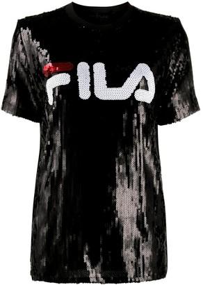 Fila sequinned logo T-shirt