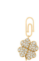 Aurelie Bidermann Signature Clover diamond charm pendant