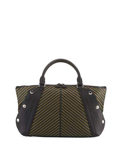 Akris Aimee Small Herringbone Satchel Bag