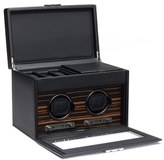Wolf Roadster Double Watch Winder & Case - Black