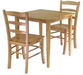 Winsome Wood Winsome Groveland 3-Piece Wood Dining Set, Light Oak Finish