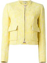 Carven patch pocket tweed jacket - women - Cotton/Polyester/Spandex/Elastane/Viscose - 42