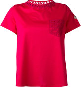 Moncler lace pocket T-shirt - women - Cotton - XS