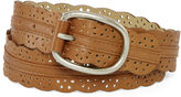 JCPenney RELIC Relic Brown Scalloped Perforated Belt