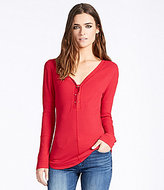 William Rast Gordon Rib-Knit Henley Tee