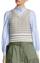 Marc Jacobs Psychadelic Flower Sleeveless Sweater